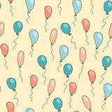 Άνευ ραφής χαριτωμένο σχέδιο με τα μπαλόνια κινούμενων σχεδίων Στοκ εικόνα με δικαίωμα ελεύθερης χρήσης