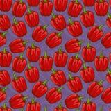 Άνευ ραφής χαριτωμένο σχέδιο πιπεριών κουδουνιών Στοκ Φωτογραφία