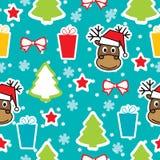Άνευ ραφής χειμερινό πρότυπο, Χριστούγεννα Στοκ Εικόνες
