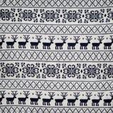 Άνευ ραφής χειμερινό πλεκτό πουλόβερ σχέδιο με Στοκ Εικόνες