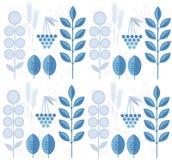 Άνευ ραφής χειμερινό σχέδιο με τα φύλλα, snowflakes, rowanberry Στοκ φωτογραφία με δικαίωμα ελεύθερης χρήσης