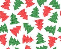 Άνευ ραφής χριστουγεννιάτικα δέντρα σχεδίων που απομονώνονται Στοκ Φωτογραφία
