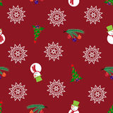 Άνευ ραφής Χριστούγεννα και νέο σχέδιο έτους Στοκ φωτογραφίες με δικαίωμα ελεύθερης χρήσης