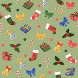 Άνευ ραφής Χριστούγεννα σχεδίων/νέο άνευ ραφής σχέδιο έτους διανυσματική απεικόνιση