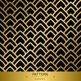 Άνευ ραφής χρυσά σχέδια πολυτέλειας στο μαύρο υπόβαθρο Διάνυσμα άρρωστο Στοκ Φωτογραφία