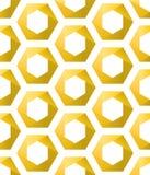 Άνευ ραφής χρυσά hexagons ως κηρήθρες διανυσματική απεικόνιση