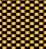 Άνευ ραφής χρυσό σχέδιο τούβλων στο μαύρο υπόβαθρο Κατάλληλος για το κλωστοϋφαντουργικό προϊόν, το ύφασμα και τη συσκευασία Στοκ φωτογραφία με δικαίωμα ελεύθερης χρήσης