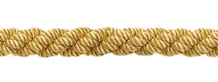 Άνευ ραφής χρυσό σχοινί Στοκ Εικόνες
