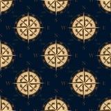 Άνευ ραφής χρυσό τυποποιημένο σχέδιο τριαντάφυλλων πυξίδων Στοκ φωτογραφία με δικαίωμα ελεύθερης χρήσης