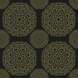 Άνευ ραφής χρυσό mandala σχεδίων Στοκ εικόνα με δικαίωμα ελεύθερης χρήσης