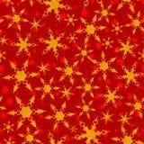Άνευ ραφής χρυσό snowflakes και αστεριών διανυσματικό πρότυπο Στοκ εικόνες με δικαίωμα ελεύθερης χρήσης