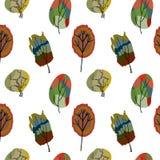 Άνευ ραφής χρωματισμένα δέντρα Στοκ εικόνα με δικαίωμα ελεύθερης χρήσης