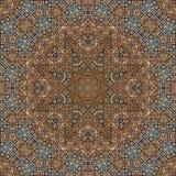 Άνευ ραφής χρωματισμένο μέταλλο arabesque 001 Στοκ εικόνα με δικαίωμα ελεύθερης χρήσης