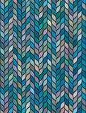 Άνευ ραφής χρωματισμένο μωσαϊκό των φύλλων απεικόνιση αποθεμάτων