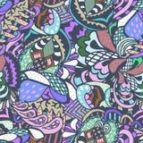 Άνευ ραφής χρωματισμένο περίληψη σχέδιο Στοκ Εικόνες