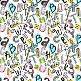 Άνευ ραφής χρώμα αλφάβητου Στοκ εικόνα με δικαίωμα ελεύθερης χρήσης
