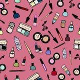 Άνευ ραφής χρώμα σχεδίων καλλυντικών σύνθεσης Στοκ εικόνα με δικαίωμα ελεύθερης χρήσης