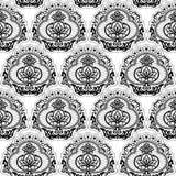Άνευ ραφής χλωρίδα δαντελλών Στοκ εικόνα με δικαίωμα ελεύθερης χρήσης