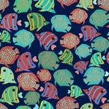 Άνευ ραφής ψάρια υποβάθρου ελεύθερη απεικόνιση δικαιώματος