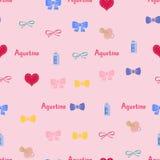 Άνευ ραφής όνομα Agustina σχεδίων υποβάθρου του νεογέννητου Στοκ Φωτογραφία