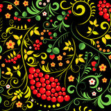 άνευ ραφής ύφος προτύπων hohloma Απεικόνιση αποθεμάτων