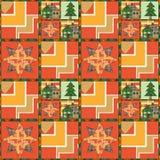 Άνευ ραφής ύφος υποβάθρου σχεδίων χριστουγεννιάτικων δέντρων και σπιτιών του PA Στοκ εικόνες με δικαίωμα ελεύθερης χρήσης