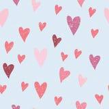 Άνευ ραφής διανυσματικό πρότυπο με τις καρδιές Στοκ Φωτογραφίες