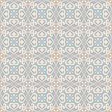 Άνευ ραφής azulejo σχεδίων ανοικτό μπλε Στοκ Εικόνα