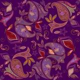 Άνευ ραφής burgundy σχέδιο με το Paisley και τις πεταλούδες Διανυσματικό τετράγωνο τυπωμένων υλών Στοκ φωτογραφίες με δικαίωμα ελεύθερης χρήσης