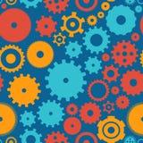 Άνευ ραφής cogwheel σχεδίων υποβάθρου Στοκ φωτογραφίες με δικαίωμα ελεύθερης χρήσης