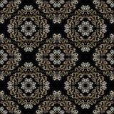 Άνευ ραφής damask κλασική ταπετσαρία. Στοκ Εικόνες