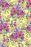 Άνευ ραφής ditsy floral σχέδιο με τα φωτεινά λουλούδια Στοκ φωτογραφία με δικαίωμα ελεύθερης χρήσης