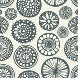 Άνευ ραφής doodle κύκλων στοκ εικόνες με δικαίωμα ελεύθερης χρήσης