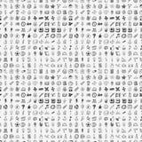 Άνευ ραφής doodle πίσω στην ΤΣΕ σχεδίων σχολικών στοιχείων Στοκ Φωτογραφίες