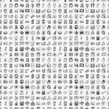Άνευ ραφής doodle πίσω στο υπόβαθρο σχεδίων σχολικών στοιχείων Στοκ φωτογραφία με δικαίωμα ελεύθερης χρήσης