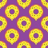 Άνευ ραφής doughnut σχέδιο Στοκ Εικόνες
