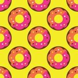 Άνευ ραφής doughnut σχέδιο Στοκ φωτογραφία με δικαίωμα ελεύθερης χρήσης