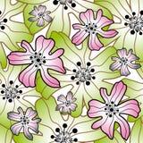 Άνευ ραφής floral ανασκόπηση ελεύθερη απεικόνιση δικαιώματος