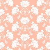 Άνευ ραφής floral ανθοδέσμη σχεδίων στο βάζο Στοκ Εικόνες