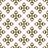 Άνευ ραφής floral γεωμετρική ταπετσαρία σχεδίων διανυσματική απεικόνιση