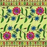 Άνευ ραφής floral γκουας χέρι-σχεδιασμού Ελεύθερη απεικόνιση δικαιώματος
