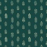 Άνευ ραφής floral διακόσμηση Minimalistic Στοκ εικόνα με δικαίωμα ελεύθερης χρήσης
