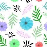 Άνευ ραφής floral διανυσματική απεικόνιση σχεδίων Στοκ εικόνα με δικαίωμα ελεύθερης χρήσης