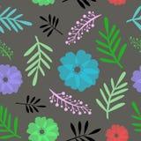 Άνευ ραφής floral διανυσματική απεικόνιση σχεδίων Στοκ φωτογραφία με δικαίωμα ελεύθερης χρήσης