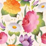 Άνευ ραφής floral εκλεκτής ποιότητας διάνυσμα σχεδίων Στοκ Εικόνα