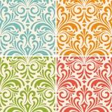 Άνευ ραφής floral εκλεκτής ποιότητας σχέδια Στοκ Εικόνες