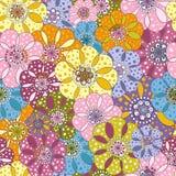 Άνευ ραφής floral ετερόκλητο πρότυπο Στοκ φωτογραφία με δικαίωμα ελεύθερης χρήσης