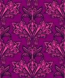 Άνευ ραφής floral λαϊκό μονοχρωματικό σχέδιο καθρεφτών Στοκ φωτογραφία με δικαίωμα ελεύθερης χρήσης