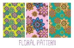 Άνευ ραφής floral προσανατολίζει το σχέδιο Στοκ φωτογραφία με δικαίωμα ελεύθερης χρήσης