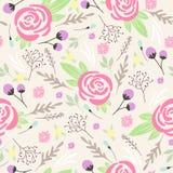 Άνευ ραφής floral πρότυπο. Ανασκόπηση με τα λουλούδια ελεύθερη απεικόνιση δικαιώματος